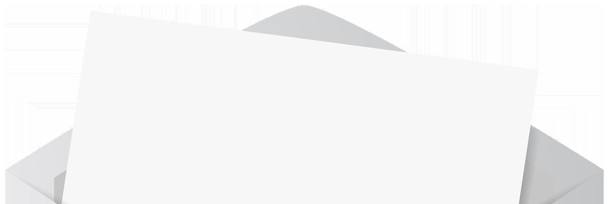 offener Briefumschlag mit Brief