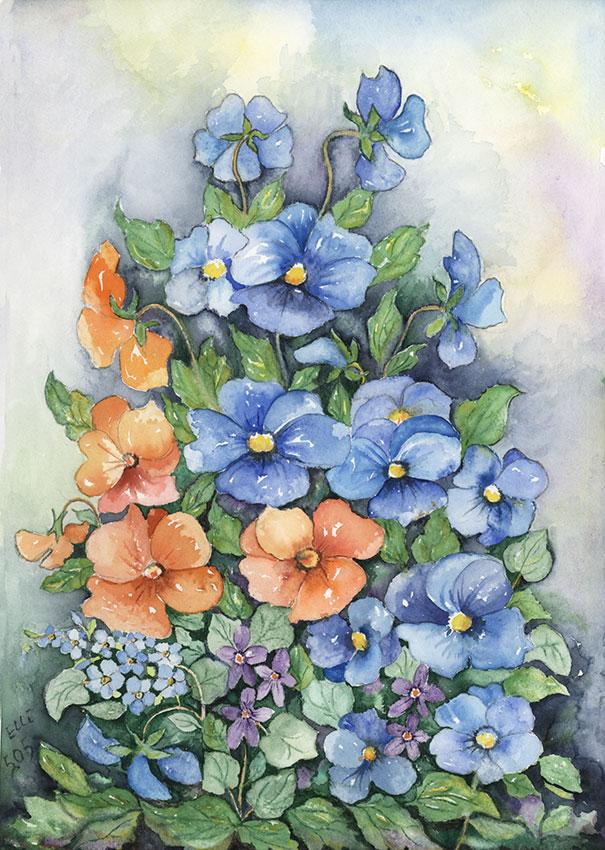Aquarellbild der Künstlerin Ella Beck