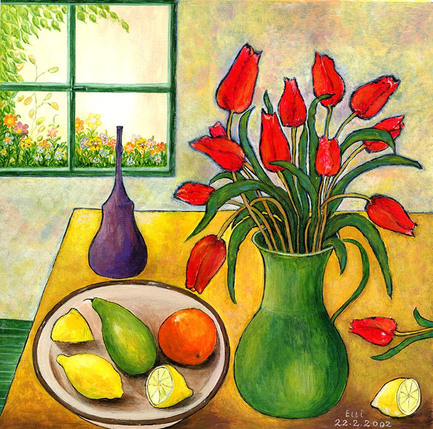 Tulpen vor Fenster 2