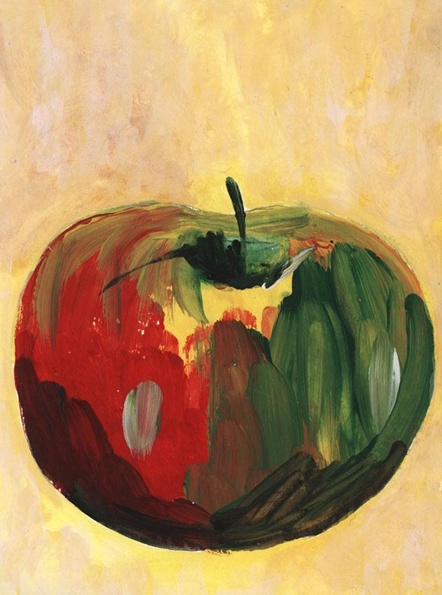 Apfel Studie | Größe: 10 x 13 cm